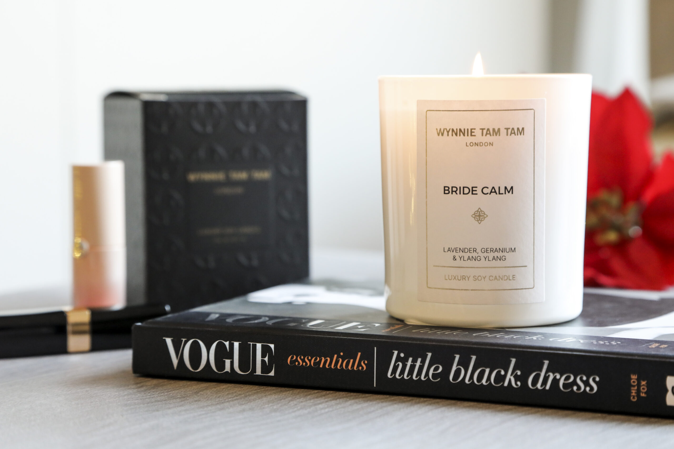 A calming candle for brides to relax